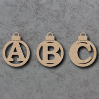 Handpainted initial baubles
