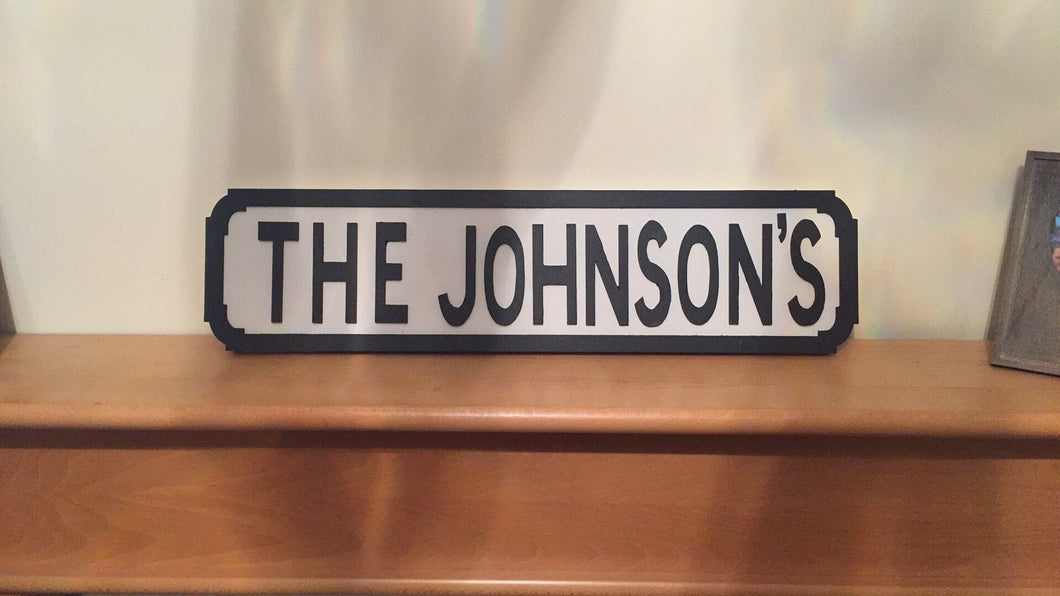 Personalised wooden street signs - I Heart Unique - 1