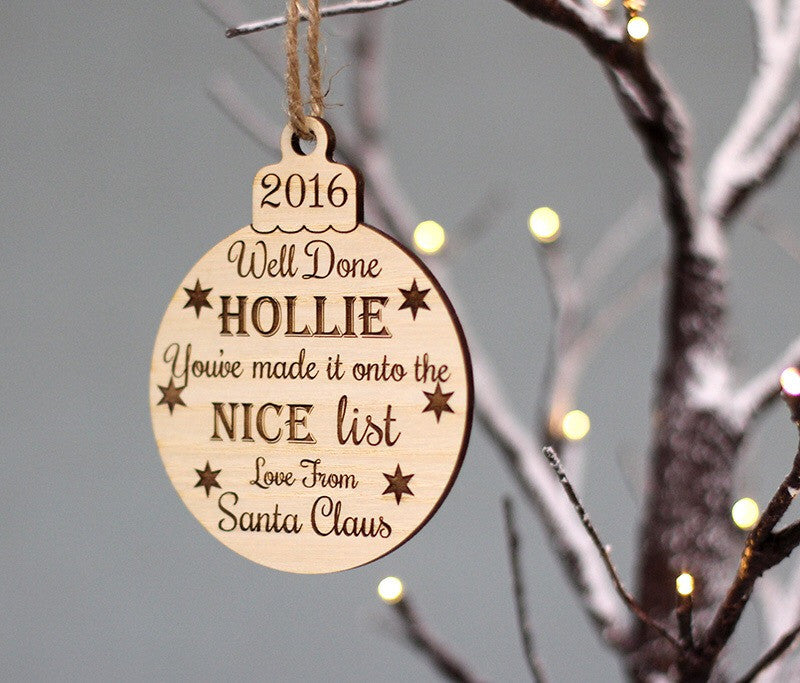 Personalised Santa Baubles - I Heart Unique