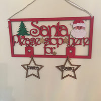 Handpainted Personalised Santa Stop Here Sign - I Heart Unique - 2