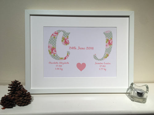 Personalised Baby Print - I Heart Unique