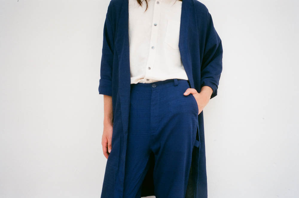 Two-way Light Coat - Indigo
