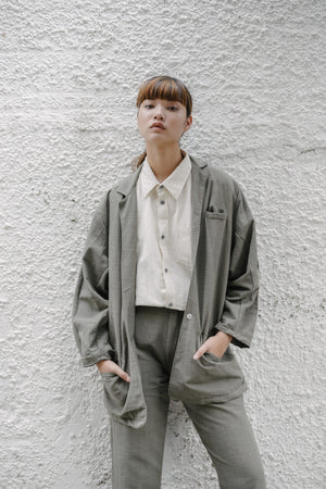 Essential Oversized Blazer - Grey