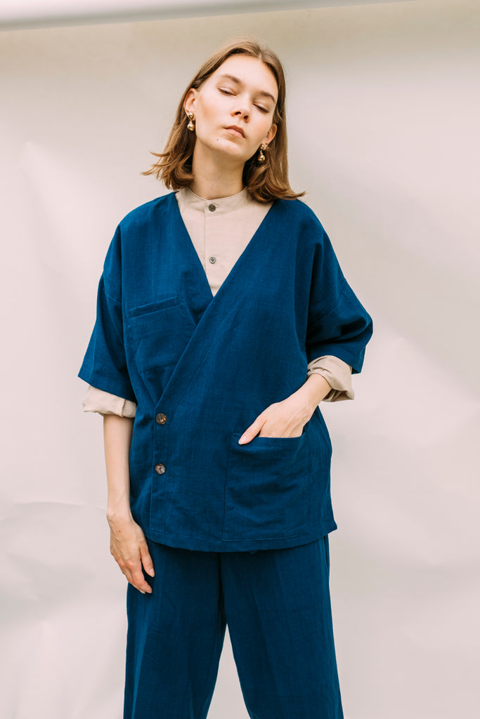 Dawn Light Coat - Indigo