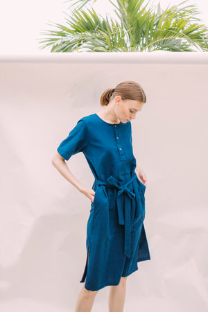 Leisure Dress - Indigo
