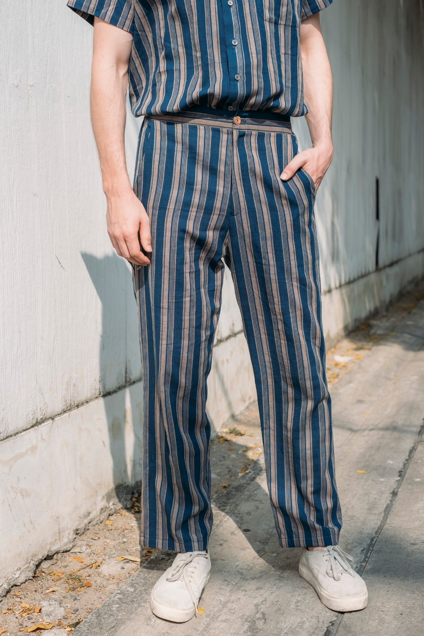 Leisure Trousers - Indigo Stripes