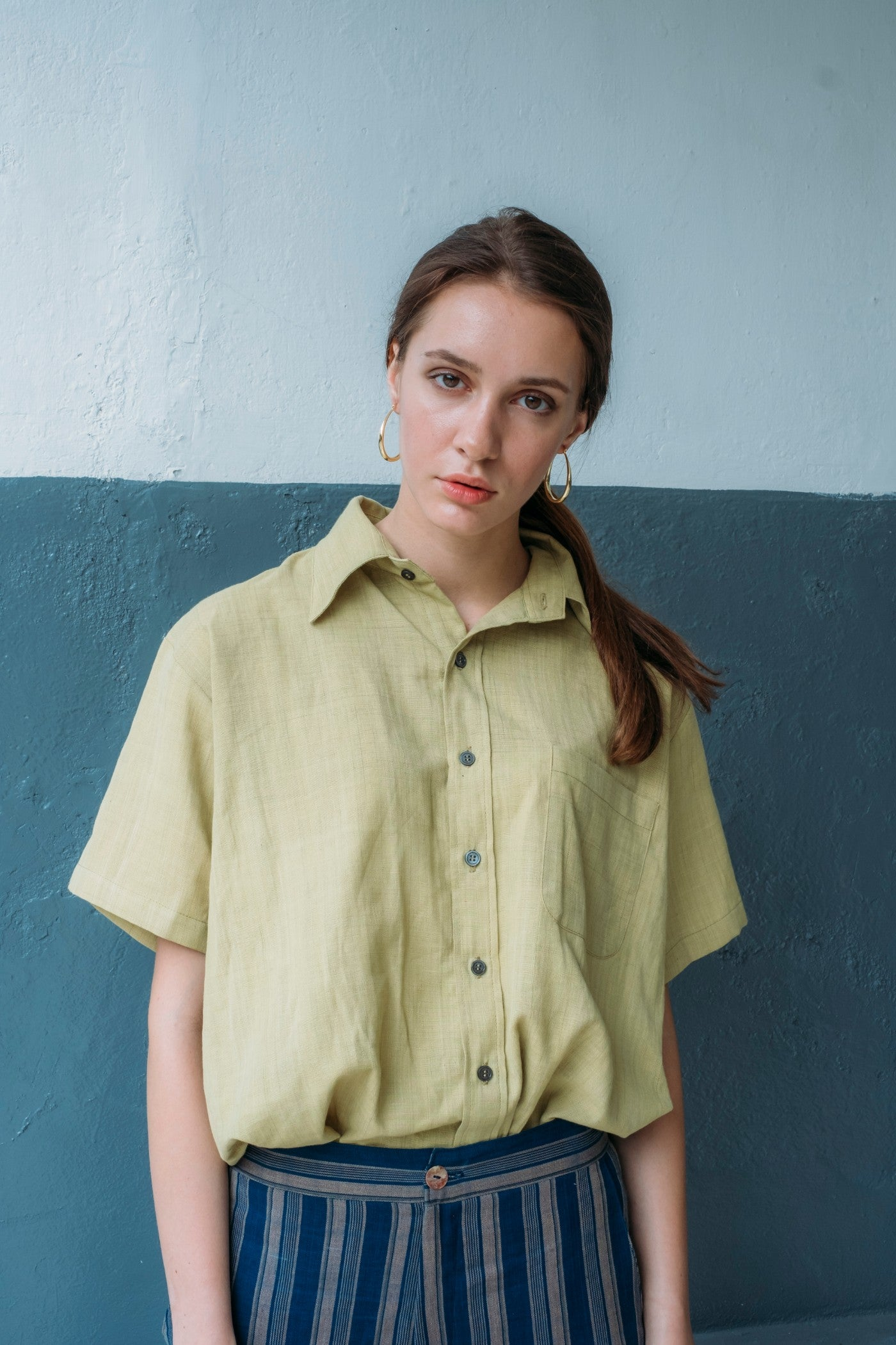 Essential Short Sleeve Shirt - Lime