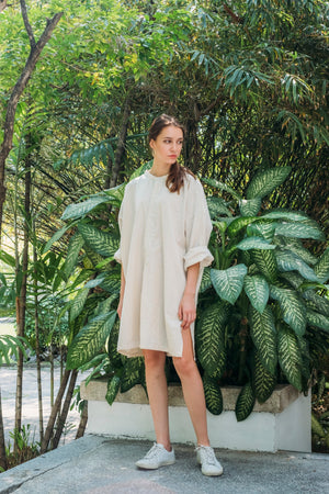 Shore Long Shirt - Natural