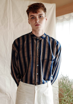 Poet Shirt No.2 - Indigo Stripes