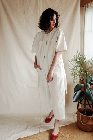 Hasu Jumpsuit - Textured Natural