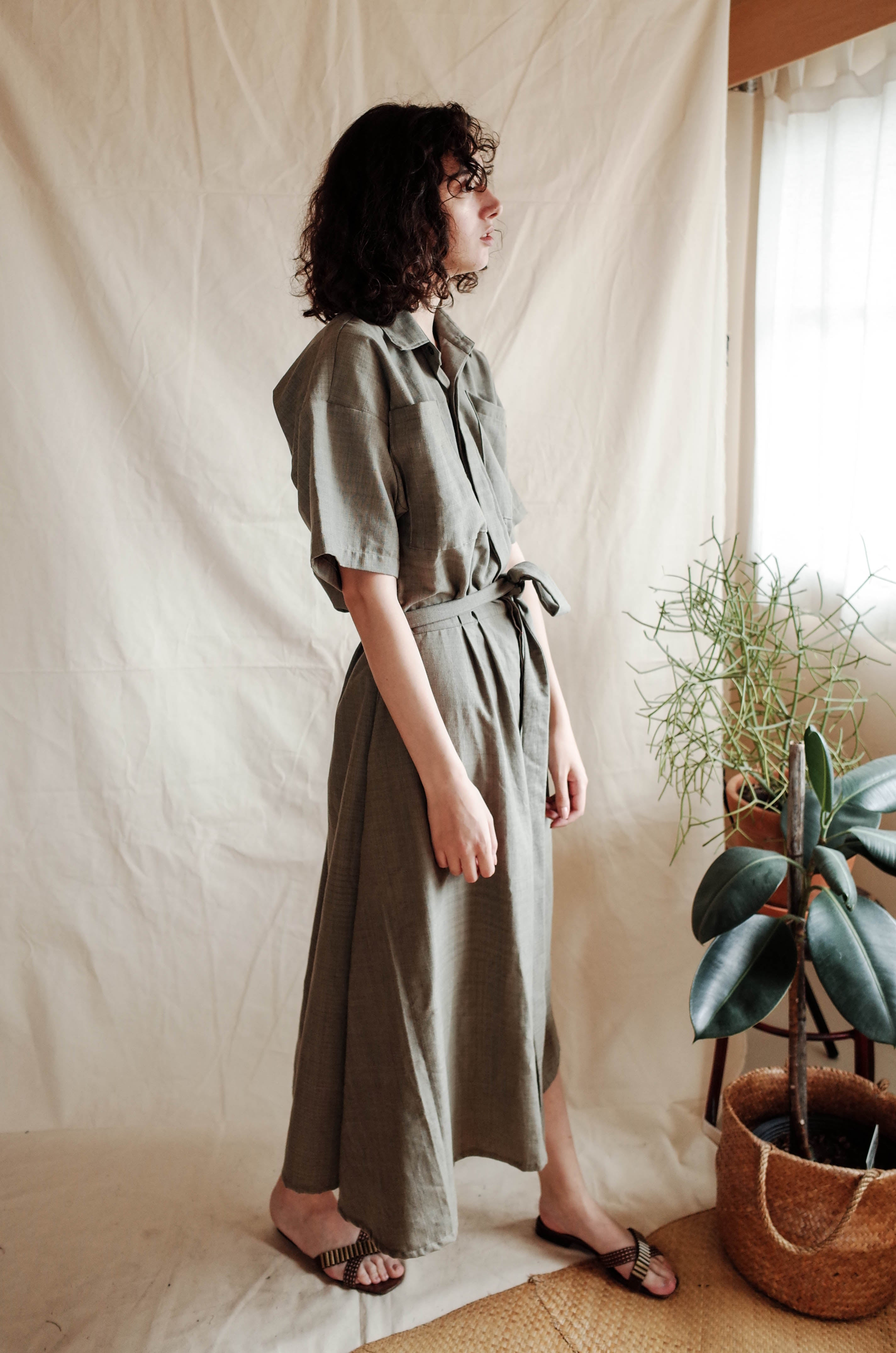 Painter Dress - Grey