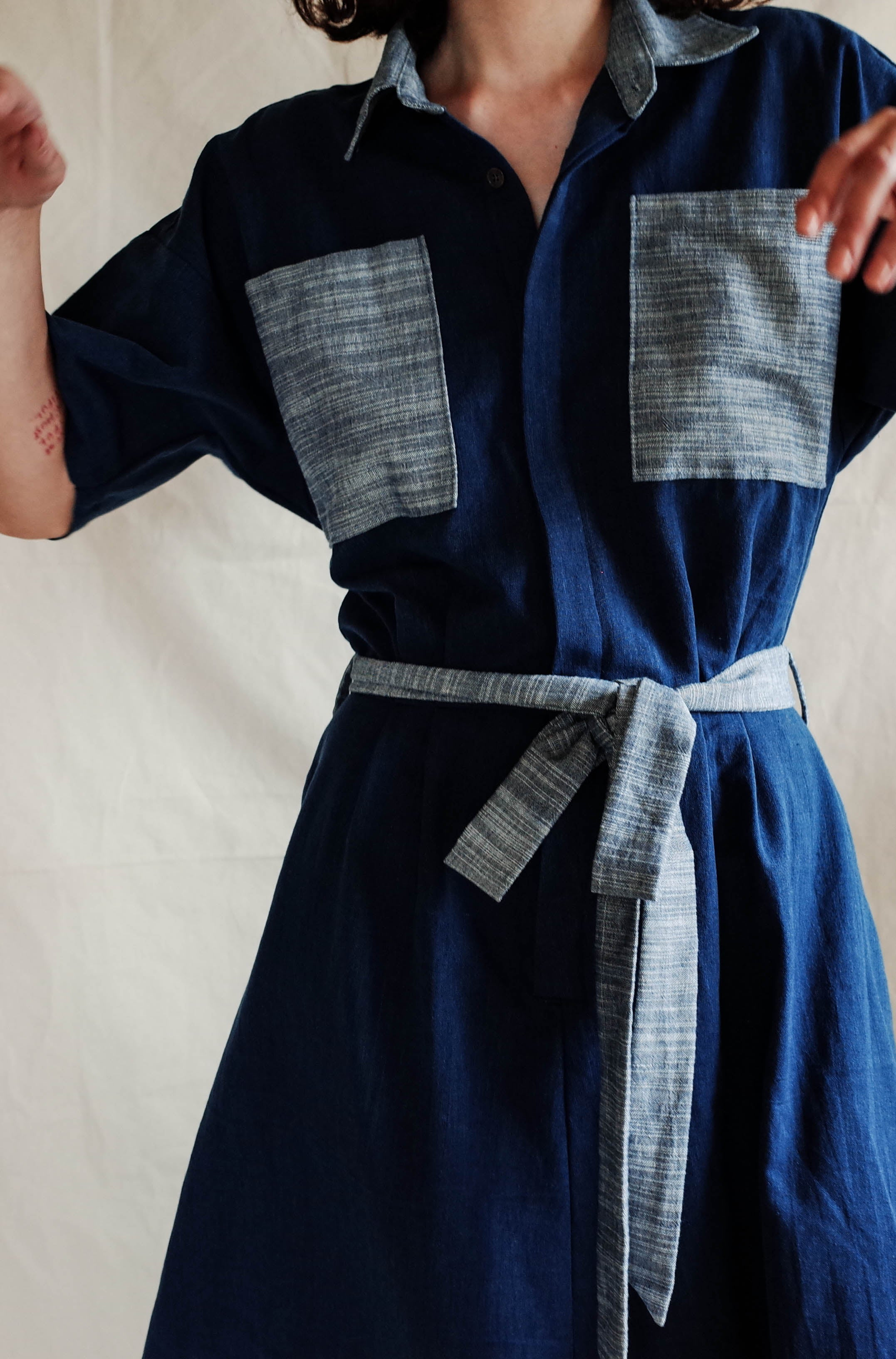 Painter Dress - Ripple/Indigo