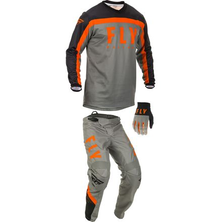 2020, Fly Racing F-16 Gear Package, Grey/Blk/Org