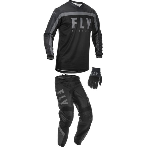 2020, Fly Racing F-16 Gear Package, Blk/Grey