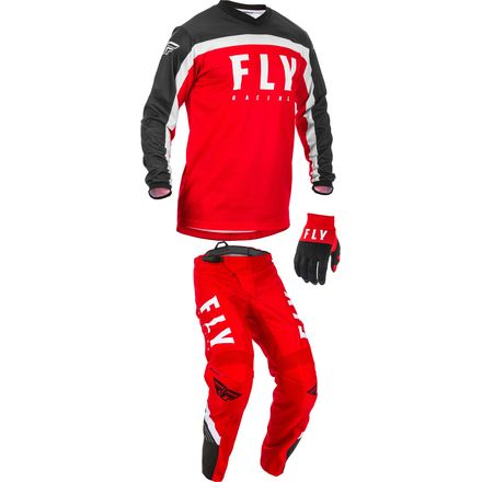 2020, Fly Racing F-16 Gear Package, Red/Blk