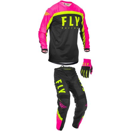 2020, Fly Racing YOUTH F-16 Gear Package, Pink/Blk