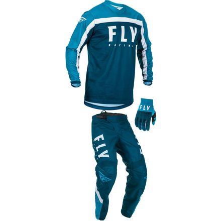 2020, Fly Racing F-16 Gear Package, Blue/Lt. Blue