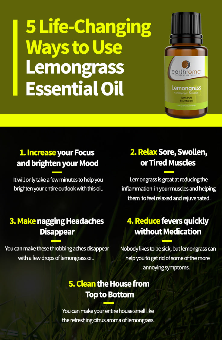 5 Life Changing Ways to Use Lemongrass Essential Oil