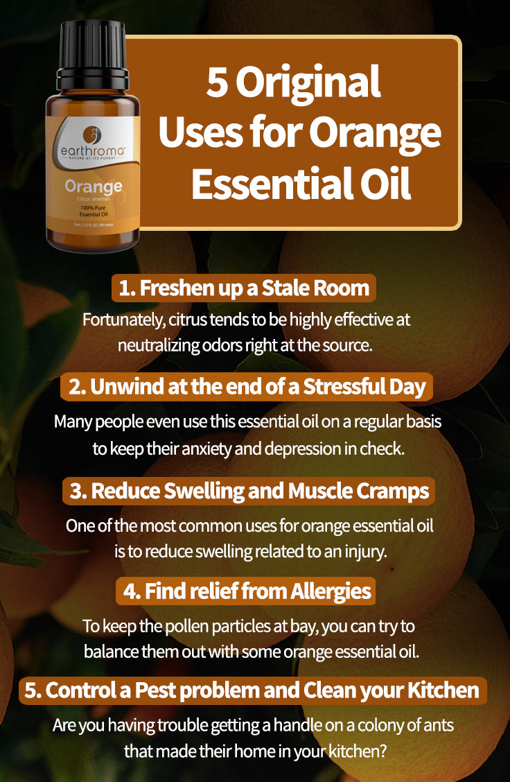 5 Original Uses for Orange Essential Oil