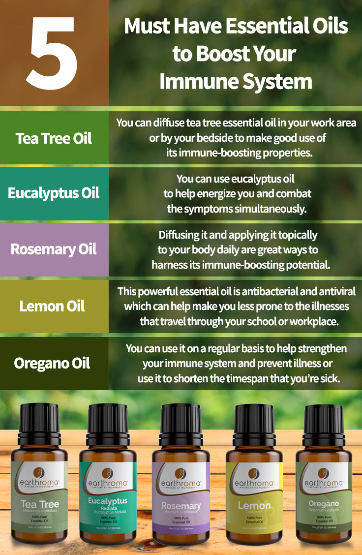 5 Must Have Essential Oils To Boost Your Immune System