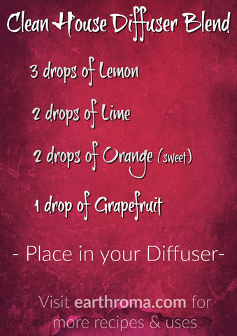 Clean House Essential Oil Diffuser Blend Recipe