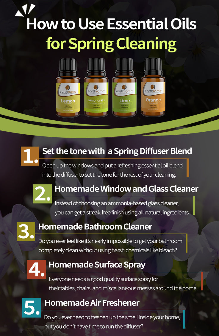 How To Use Essential Oils For Spring Cleaning Earthroma