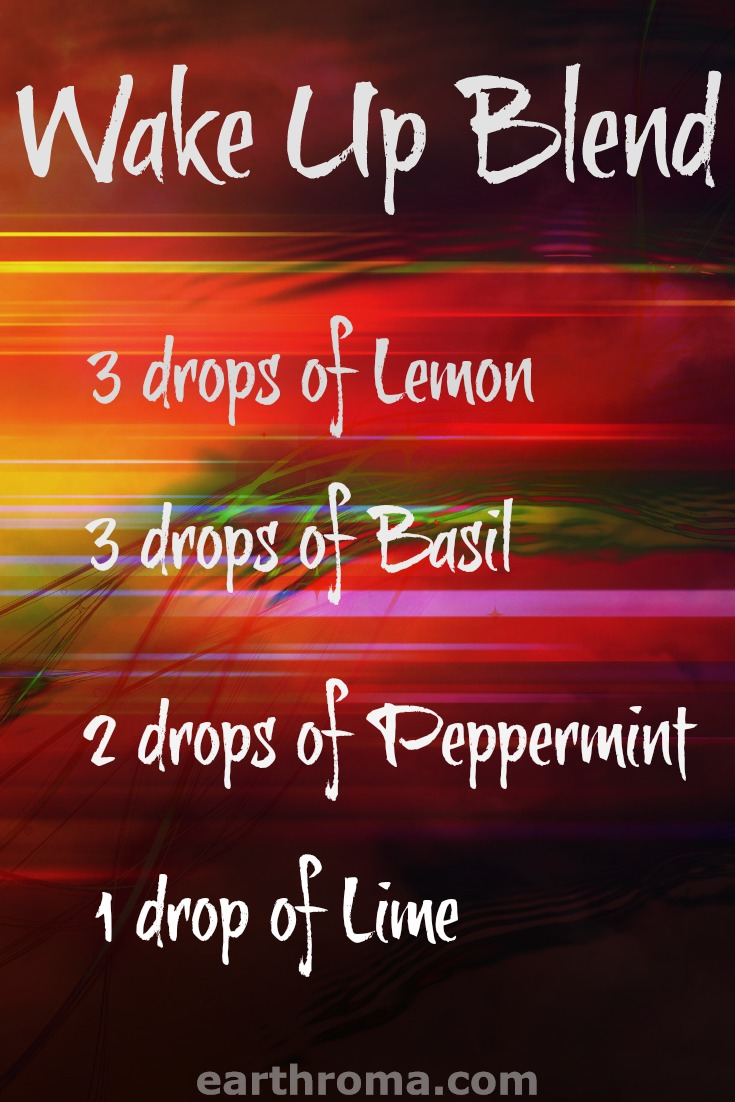 Wake Up Essential Oil Diffuser Blend Earthroma