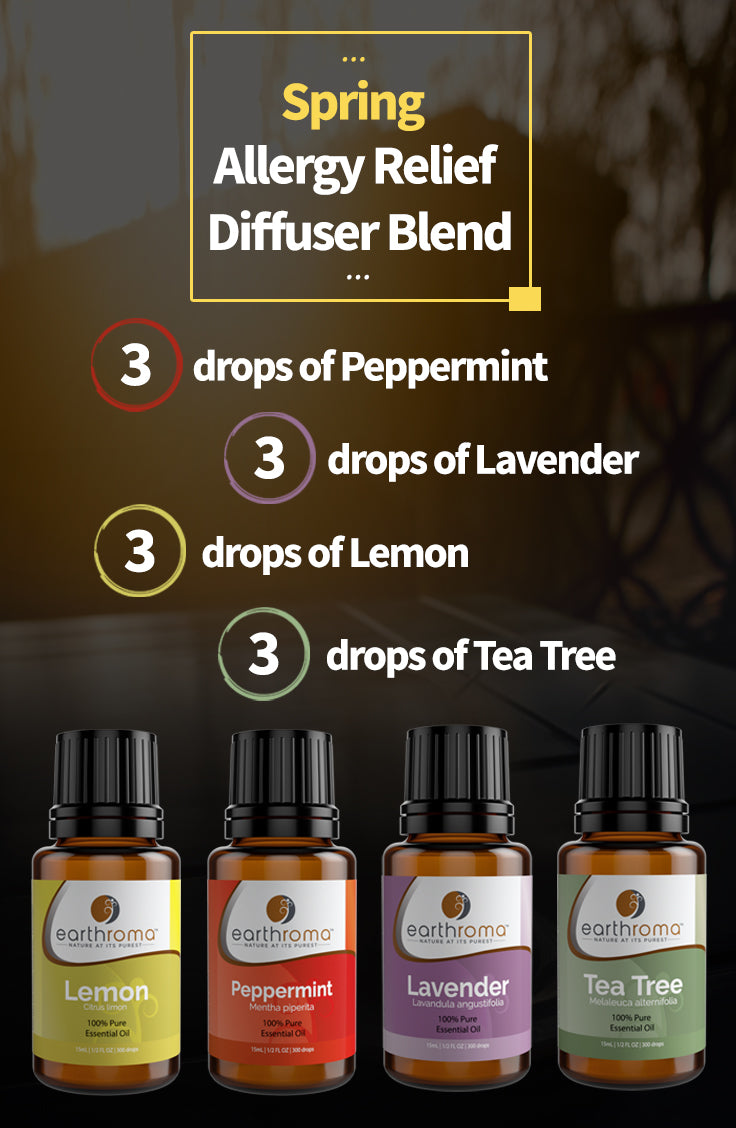 Spring Allergy Relief Diffuser Blend Earthroma Essential Oils