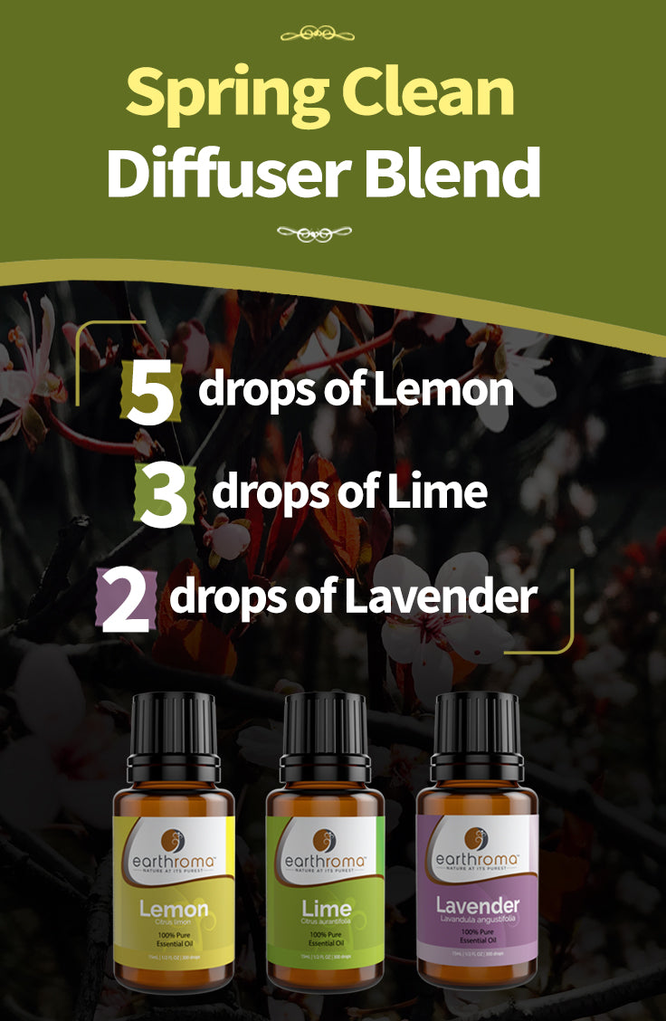 Spring Clean Essential Oil Diffuser Blend Recipe
