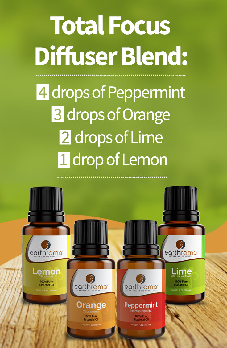 Total Focus Essential Oil Diffuser Blend Recipe