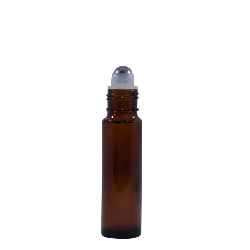 10 mL Amber Glass Roll On Bottle (4 pack) Earthroma $7.99