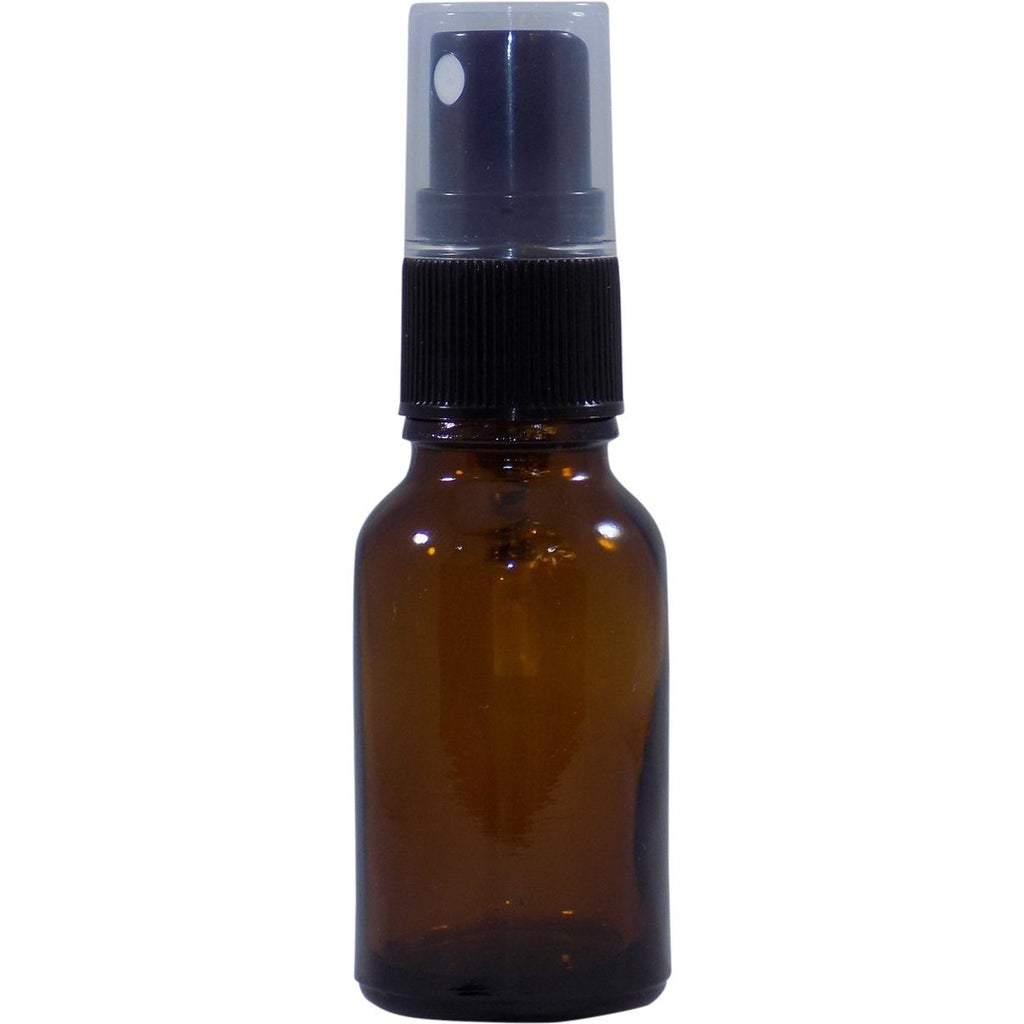 15 ML Amber Bottle W/ Spray Top (4 Pack)