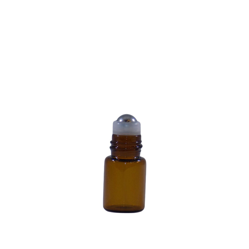 2 ML Amber Glass Roll On Bottle (4 Pack)