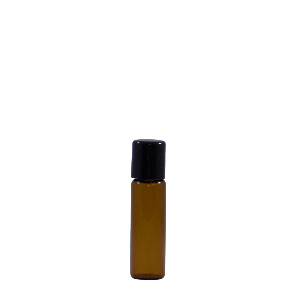 5 ML Amber Glass Roll On Bottle (4 Pack)
