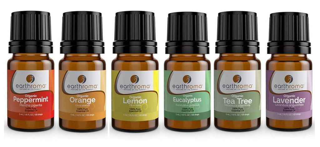 Organic Essential Oil 6 Pack Set