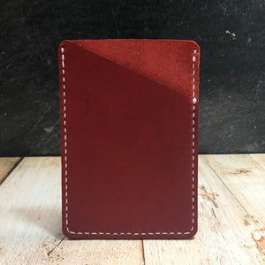 Pocket Notebook Sleeve in Red with White Thread