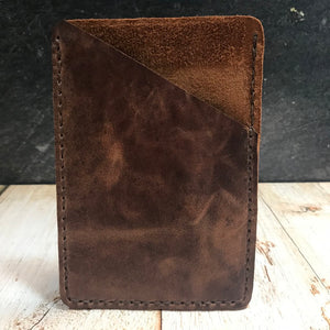 Pocket Notebook Sleeve in Brown VHF with Mid Brown Thread