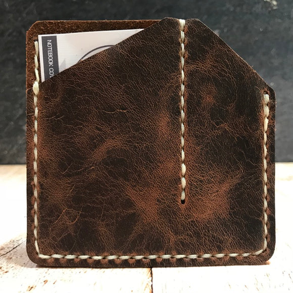C & C Caddy in Brown Vintage Horsefront with Cream Thread
