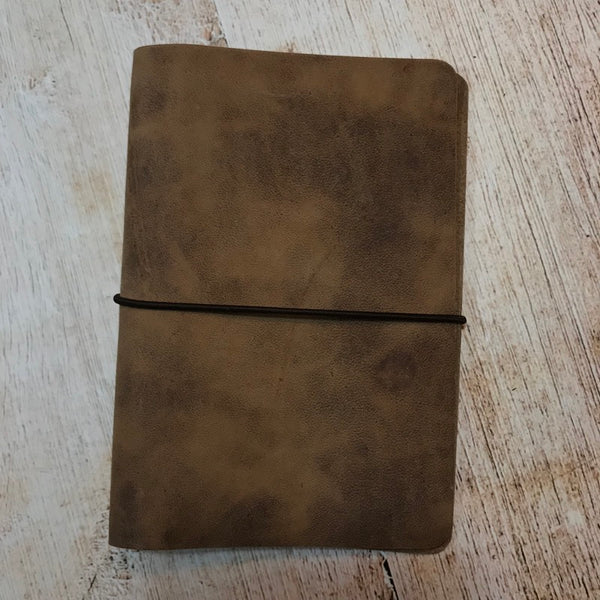 Travelers Notebook Style Pocket Size Notebook Cover in Natural VHF