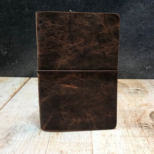 Travelers Notebook Style Pocket Size Notebook Cover in Spice VHF