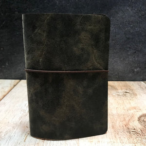 Travelers Notebook Style Pocket Size Notebook Cover in Dark Brown VHF