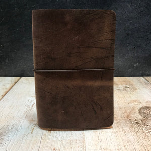 Travelers Notebook Style Pocket Size Notebook Cover in Brown VHF