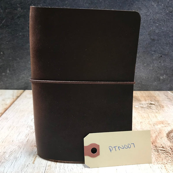 Travelers Notebook Style Pocket Size Notebook Cover in Brown CXL