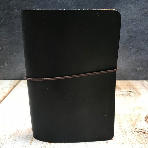 Travelers Notebook Style Pocket Size Notebook Cover in Black CXL