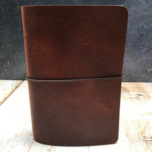 Travelers Notebook Style Pocket Size Notebook Cover in Brown Dublin