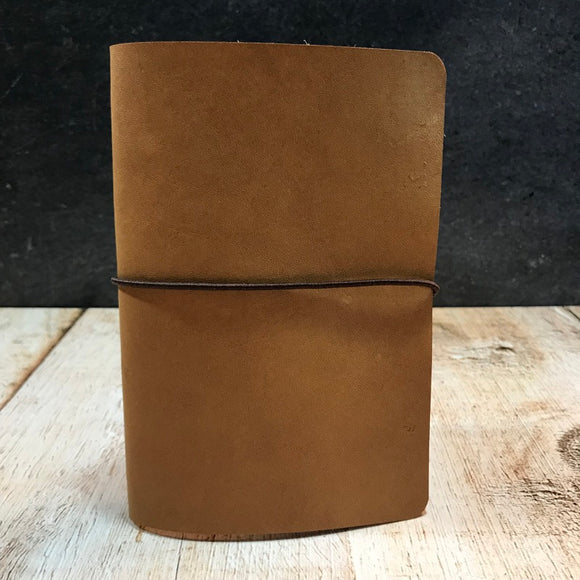Travelers Notebook Style Pocket Size Notebook Cover in Natural Essex