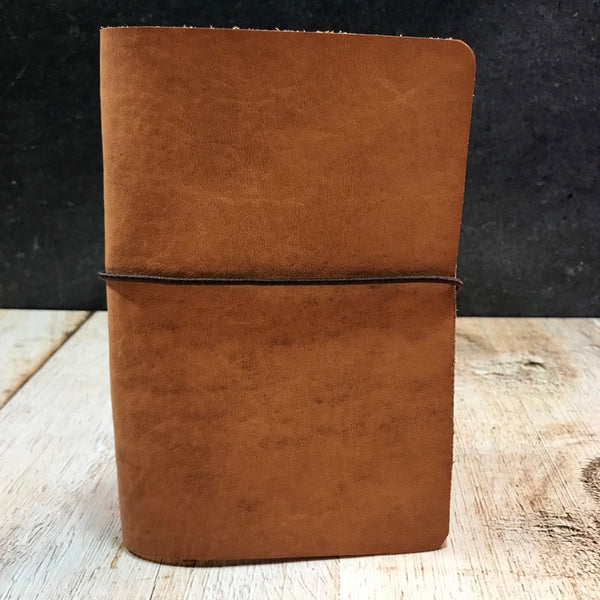 Travelers Notebook Style Pocket Size Notebook Cover in Distressed Essex