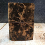Travelers Notebook Style Pocket Size Notebook Cover in Jungle Brown