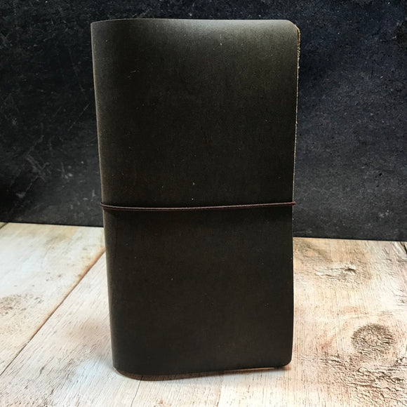 Travelers Notebook Style Standard Size Notebook Cover in Brown Slate