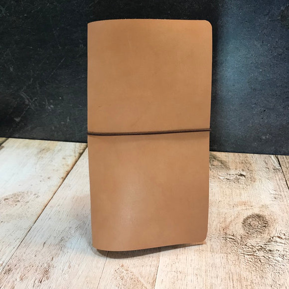 Travelers Notebook Style Standard Size Notebook Cover in Natural Essex